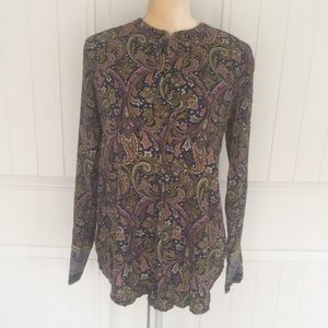 Ann Taylor LOFT button down blouse size small
